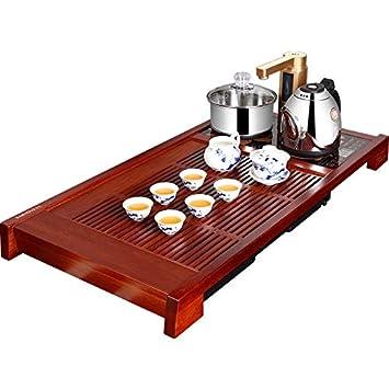 mesa de té juego de té juego de té de Kung Fu mesa de té inteligente sólido estufa de cocina de madera: Amazon.es: Hogar