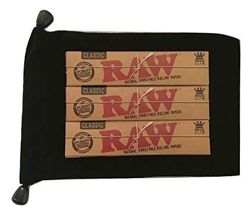 ing Size Classic Rolling Papers Supreme - Black Velvet Carry Pouch 420 Kit Bundle ()