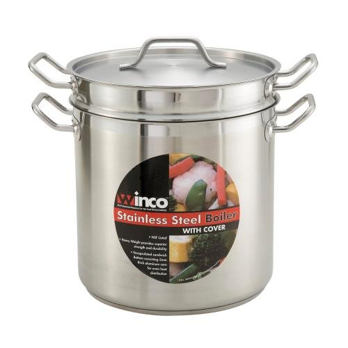 Winco SSDB-20 20 Qt. Master Cook Double Boiler W/ Cover, Stainless - Double Boilers-SSDB-20