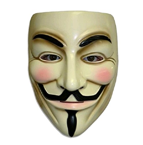 2pcs Party Masks V for Vendetta Anonymous Guy Fawkes Mask Halloween Cosplay (V For Vendetta Mask Deluxe)