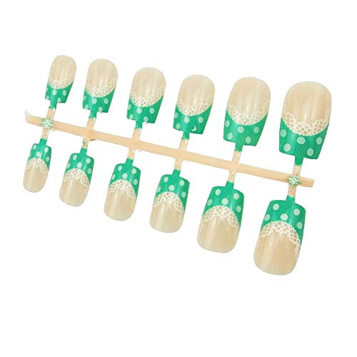 12Pcs/Lot False Nail Tips Set Stylish Acrylic Uv Gel Plastic Nail Tips Fake Pre Designed Tips Makeup Tips Builder Manicure Tools 366