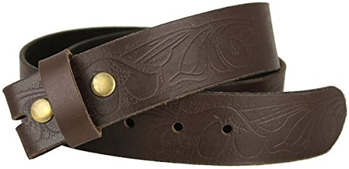 Hagora Women's Full Leather Floral Embossings 1-1/2