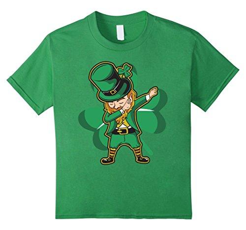 [Kids Dabechaun - Funny Leprechaun Dabbing St Patricks Day Shirt 6 Grass] (St Patricks Day Shirts For Toddlers)