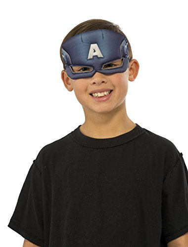 Kids Captain America Mask (Rubie's Costume Marvel Universe Captain America Child Costume Plush Eye Mask)