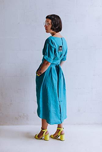 Kimono japanese inspired women wrap belted dress