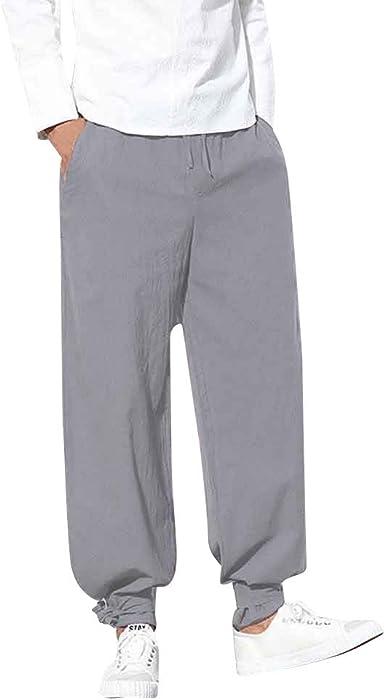 YOYOGO Pantalones Algodón Hombre Pantalones Hombre ...