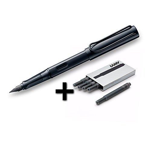 - Lamy AL-Star Fountain Pen (71F) Black + 5 Black Ink Cartridges