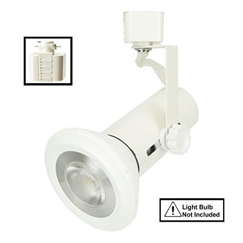 D&D Brand H System Universal PAR Line Voltage Track Lighting Fixture White HTC-9007-WH ( No Bulb ) by Dash N Direct (Image #1)'