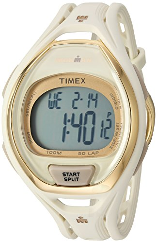 Timex Ironman Sleek 50 Lap | White/Gold Full-Size | Sport Watch TW5M05800