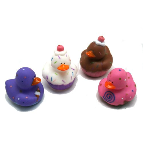 - Fun Express 12 Sweet Treat Cupcake Ice Cream Rubber Ducks