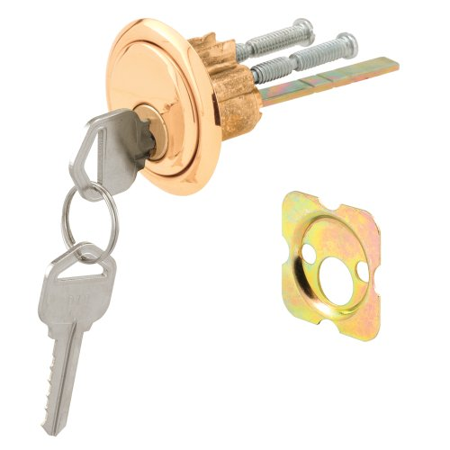 (Defender Security U 9965 Rim Cylinder Lock Kwikset/Weiser with Brass Face and Diecast)
