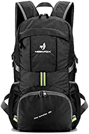 NEEKFOX Lightweight Packable Travel Hiking Backpack Daypack - 35L Foldable Camping Backpack Ultralight Sport O