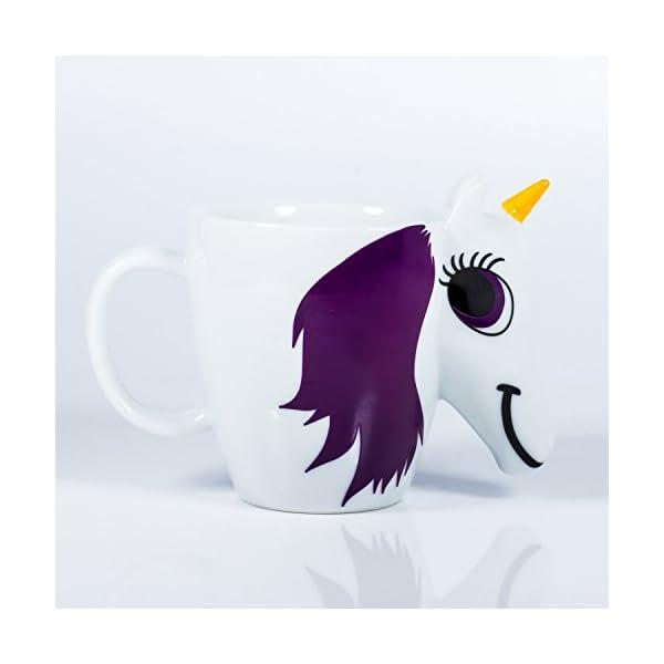 Thumbs Up UK Unicorn Color Changing 10 oz Ceramic Coffee Mug 5