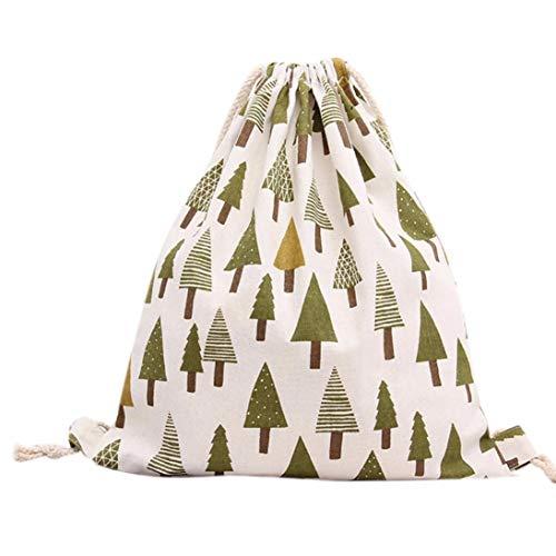 Tree Kanpola Bag Beam Travel Women Shopping Green Drawstring Port Backpack Hn5wnCAxqa