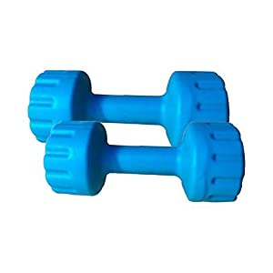 Aurion Set of 2 PVC Dumbbells Weights Fitness Home Gym Exercise Barbell (Pack of 2) Light Heavy for Women & Men's Dumbbell