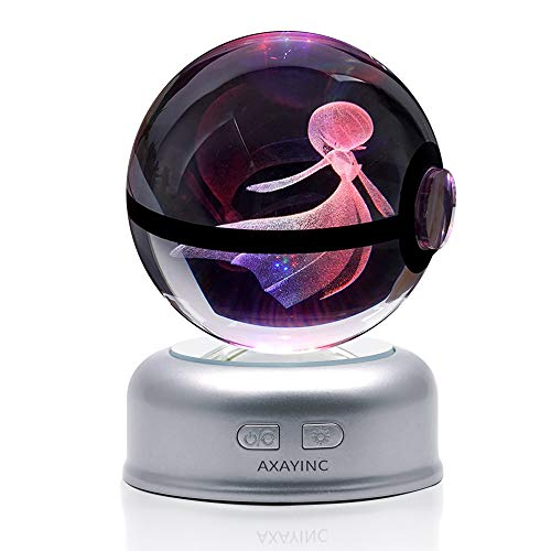 AXAYINC 3D Crystal Ball 70mm LED Night Light Change Color Christmas Birthday Kids Gift. (7 sha NAI Duo)