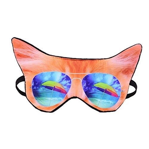 Cat Kids Mask - HXINFU Animal Eye Mask For Sleeping Cat Sleep Mask For Kids Anime Blinders For Sleeping
