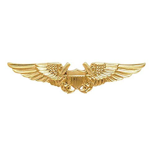Officer Miniature - Medals of America Navy Flight Officer Wings Badge Gold Finish Miniature