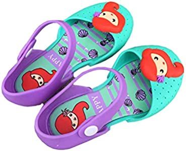 Ortarco Toddler Girl Cute Mermaid Shoes Jelly Mary Jane Princess Flat Sandal for Baby Kids