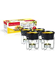 Artestia Ceramic Butter Warmer Set for Seafood (4 Black)