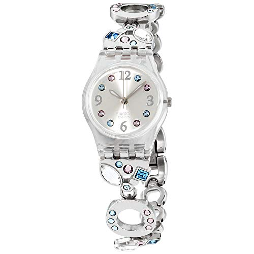 (Swatch Women's Menthol Tone LK292G Silver Stainless Steel Swiss Quartz with Silver Dial)