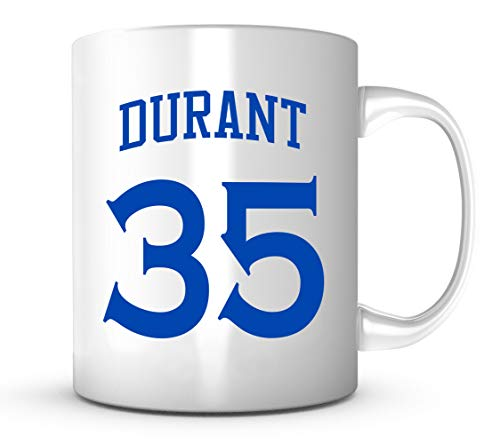 Kevin Durant Autographed Basketball - Kevin Durant Mug - Golden State Basketball Jersey #35 Coffee Cup
