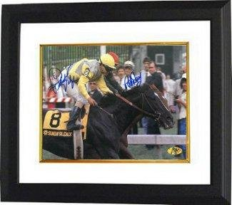 Sunday Silence signed Preakness Stakes at Pimlico Horse Racing 16x20 Photo Custom Framed 2 sig - Autographed Horse Racing (Framed Autographed 16x20 Photograph)