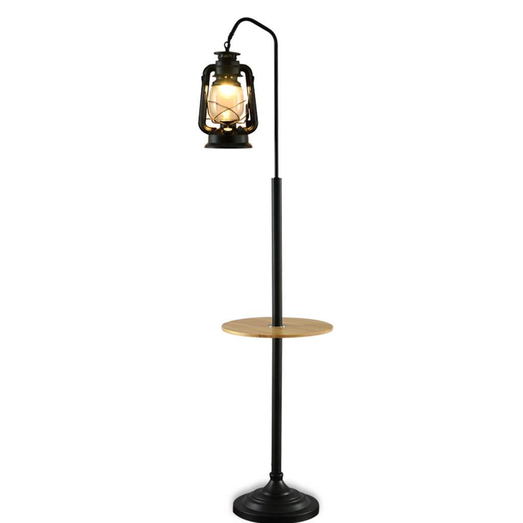 Gangge Retro Stehlampe Schlafzimmer Nachttisch Lampe Wohnzimmer Moderne Lampe Einfache Persönlichkeit Tischlampe (Farbe   A)