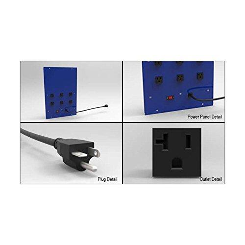 Workbench Riser Shelf Power Panel; 12x18 ()