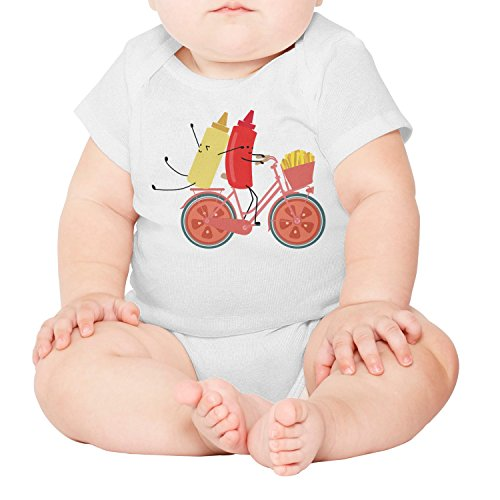 (xs4tdg563kfu You Gotta Ketchup Tomato Sauce Bicycle Baby Short-Sleeved Climbing Clothing Humorous)
