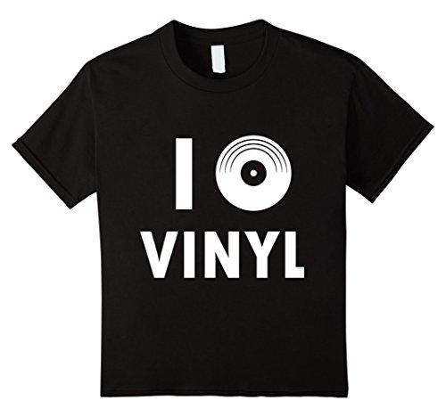 [Kids I LOVE VINYL SHIRT - 45 Record Turntable DJ Shirt 10 Black] (Disco Dj Costume)