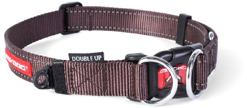 Ezydog Double Up Collar, Small, Chocolate