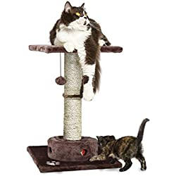 Furhaven Pet Cat Furniture | Tiger Tough Cat Playground Scratching Post Furniture, Brown