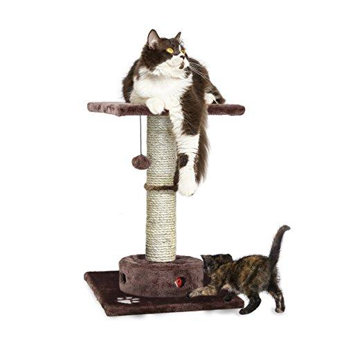 (FurHaven Pet Cat Furniture | Tiger Tough Cat Playground Scratching Post Furniture, Brown)