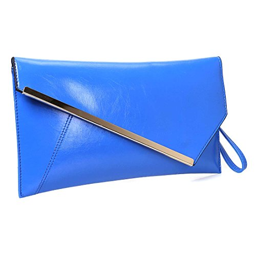 Fashionable Leather Accent Envelope Statement
