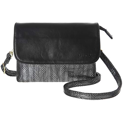 MINICAT Women RFID Blocking Small Crossbody Bags Credit Card Slots Cell Phone Purse Wallet (Small, S-Black)