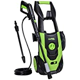 PowRyte Elite 2100 PSI 1.8 GPM Electric Pressure Washer, Electric Power Washer with Stepless Angle Adjustment Spray Nozzle, Extra Turbo Nozzle