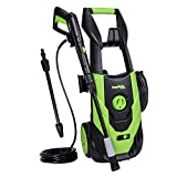 PowRyte Elite 2100 PSI 1.8 GPM Electric Pressure Washer, Power Washer with Adjustable Spray Nozzle, Extra Turbo Nozzle, Onboard Detergent Tank
