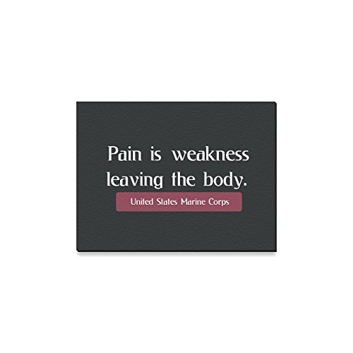 Halloween Decor USMC United States Marine Corps Pain Is Weakness Leaving The Body Oil Painting Canvas Print Wall Art for Home Decoration(16x12inch) -