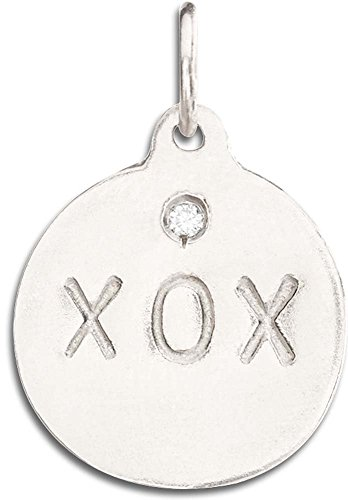 Helen Ficalora ''XOX'' Disk Charm With Diamond White Gold by Helen Ficalora