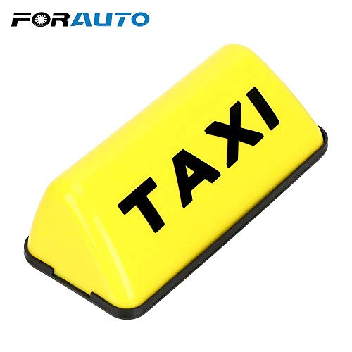 LED Taxi Roof Light Yellow Car Cab Top Lamp Waterproof Car-Styling Signal Lamp ()