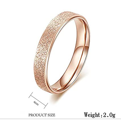 JEWH Classic Simple Narrow/Wide Rings - Stainless Steel for Women - Trendy Ring Rose