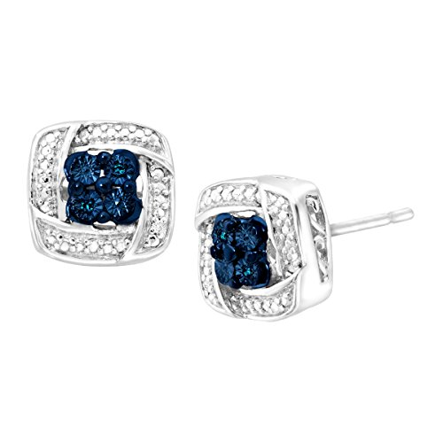stud-earrings-with-blue-white-diamonds-in-sterling-silver-3k-posts
