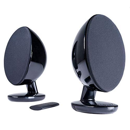 KEF EGG Versatile Desktop Speaker System - Gloss Black (Pair)