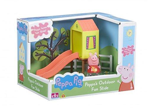 (Peppa Pig Peppa's Outdoor Fun Slide Playset With Peppa Figure)