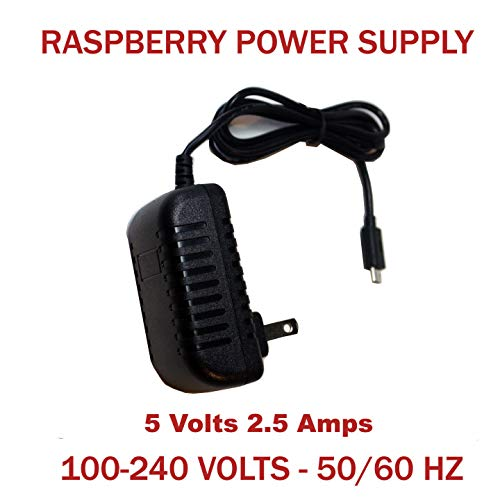 5V 2.5A Micro USB Charger Adapter Cable Power Supply for Raspberry Pi 3 B+ B USPlug