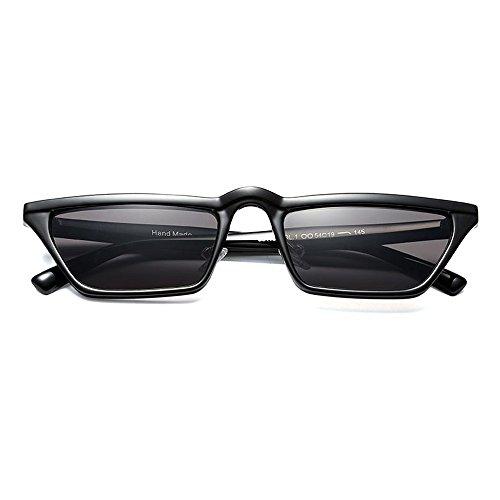 cuadrado de de UV400 gafas sol mujer black hombres Pequeño sol top gafas TL para Sunglasses flat mujeres negro 4SwvInxqE