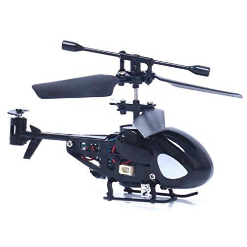 Black Radio Helicopter Controlled (Dacawin Mini Rc Helicopter Radio Remote Control Aircraft Toy Gift Micro 3.5 Channel (Black))