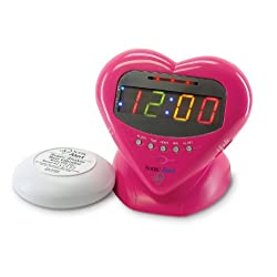 Sonic Boom Vibrating Alarm Clock with Powerful 12-Volt Bed Shaker and Pulsating Flashing Alert Lights, 113db Extra Loud Alarm