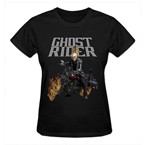 XPing Superhero Film Ghost Rider Cotton Fashion T Shirt for Womens Black]()